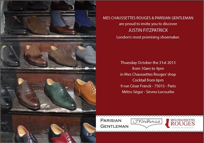 My Event in Paris, Oct. 31st with Mes Chaussettes Rouges & Parisian Gentleman