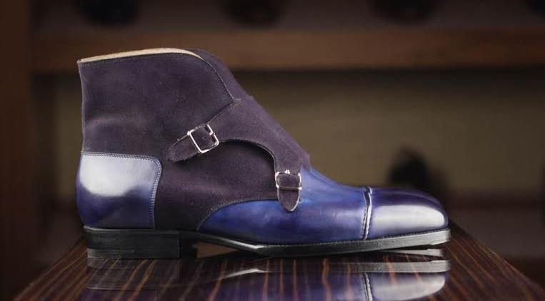 Saint Crispins Blue Monkstrap Boot