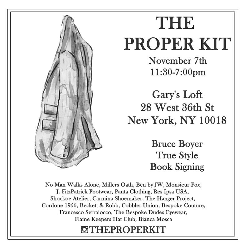 The Proper Kit Pop Up NYC - Nov. 7th