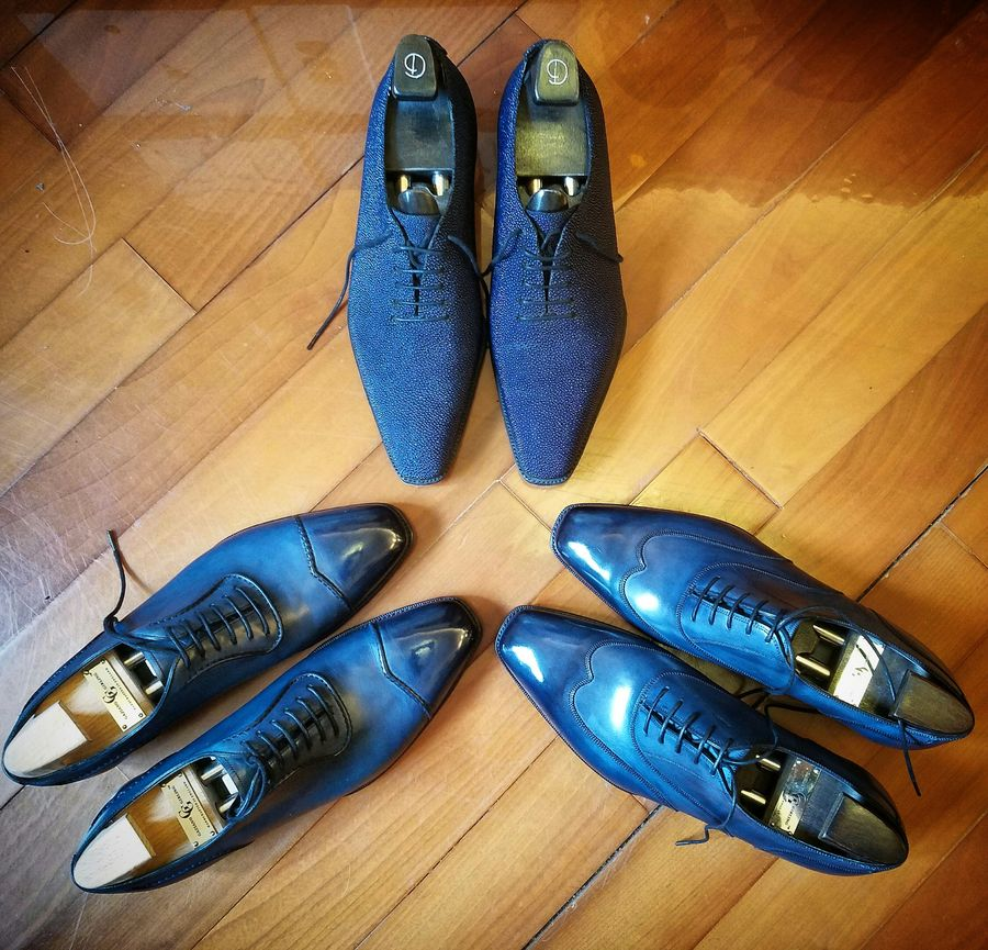 Blue Shoes Are Now The Norm