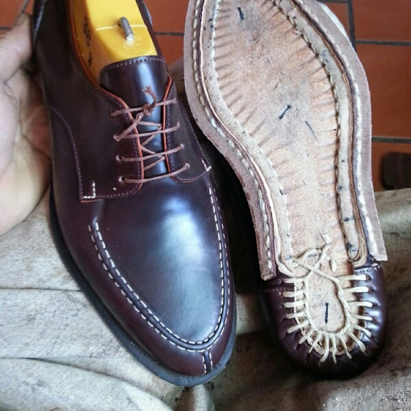 Hand Welted/Stitched Cordovan Apron Derbys by Enrile