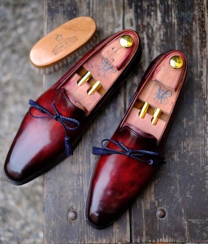 Dandy Shoe Care Sells Patina'd Ed Et Al Loafer