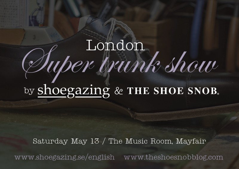 London Super Trunk Show 2017, MAY 13th - Hosted by Shoegazing & The Shoe Snob