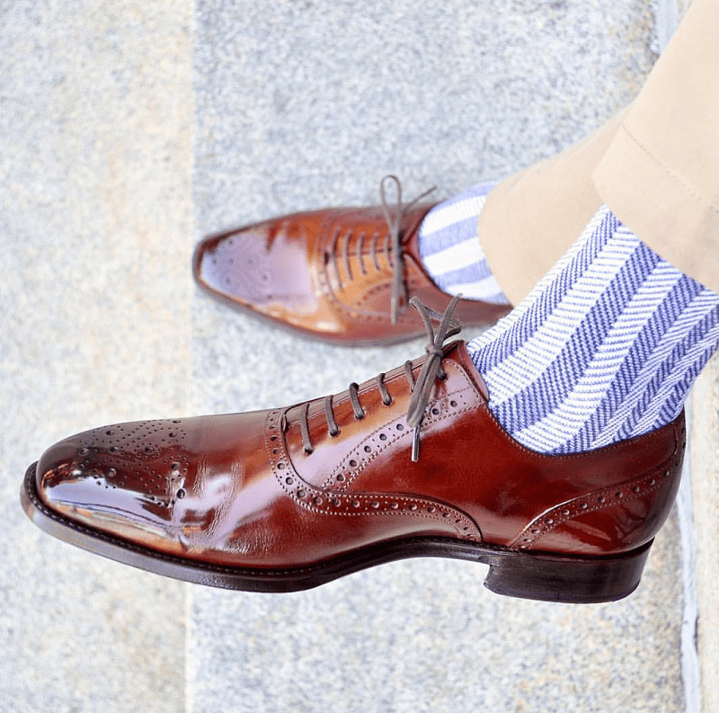 Contrasting Socks - Adding Flare to Your Outfit