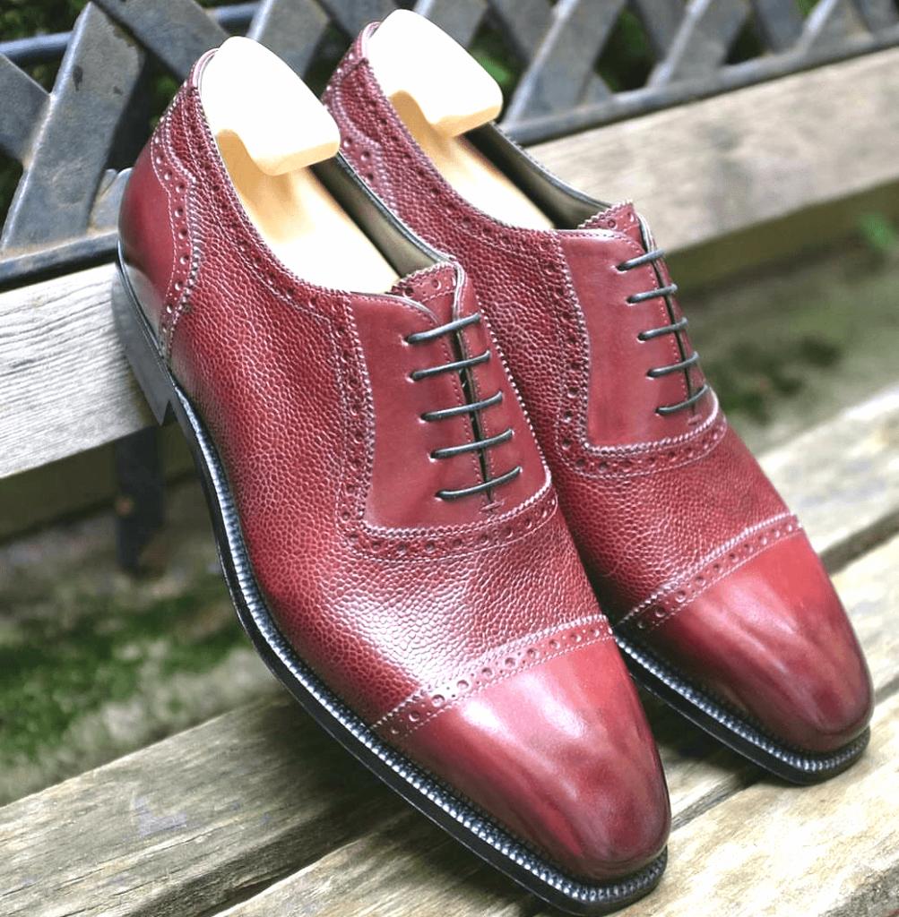 More Burgundy Shoes = Progression