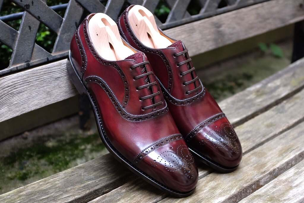 Burgundy Brogues by Paolo Scafora