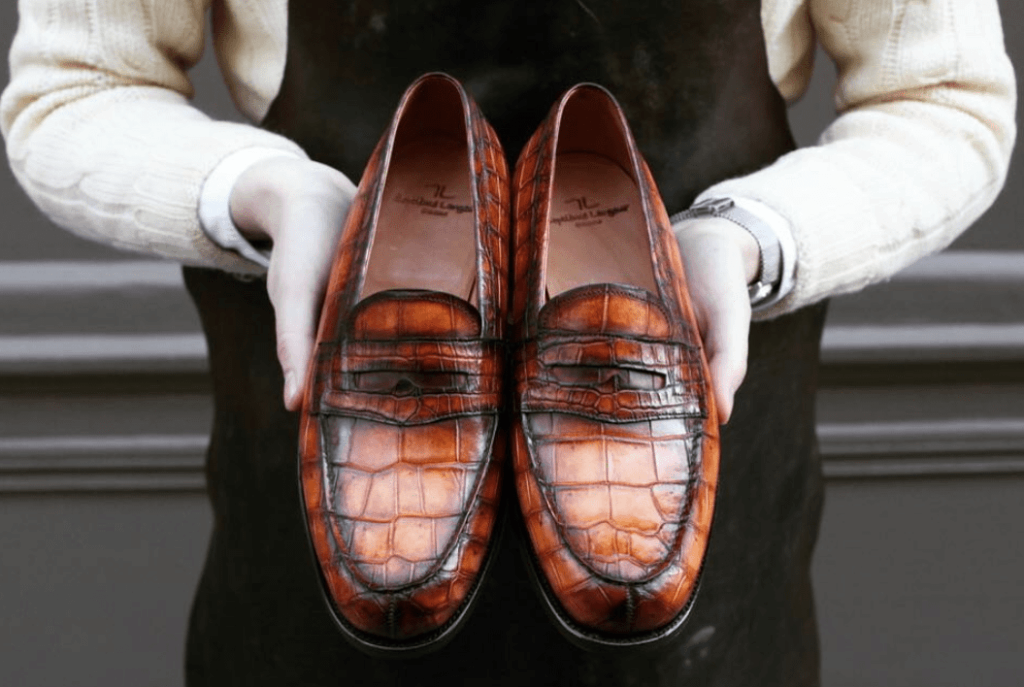 Patina Croc Loafers via MTO by Septieme Largeur