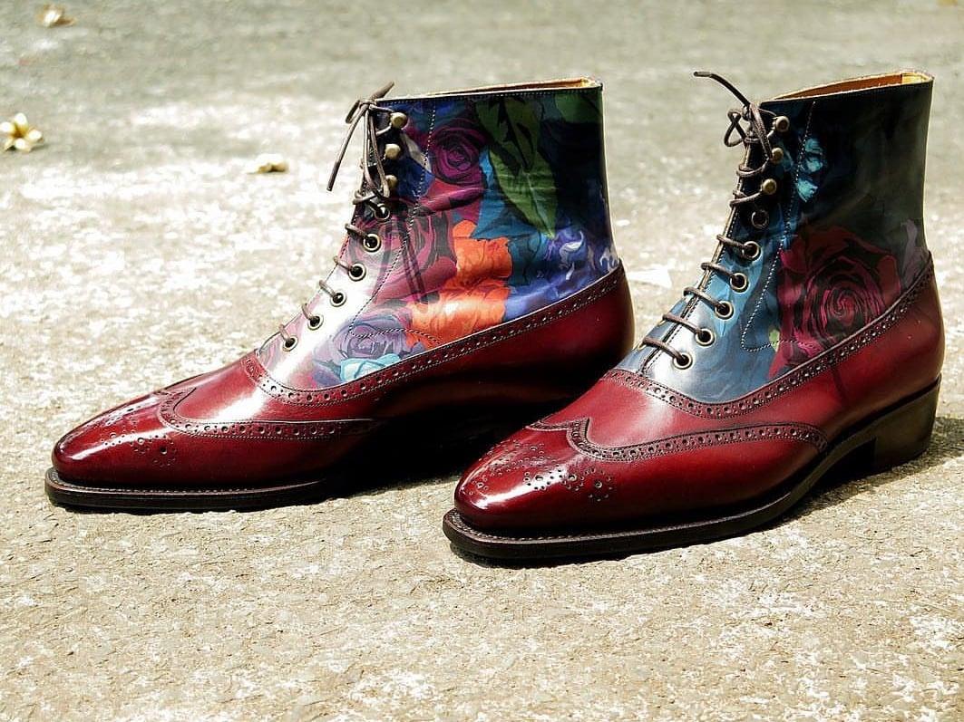 Floral Balmoral Boots by Fugashin Saigon