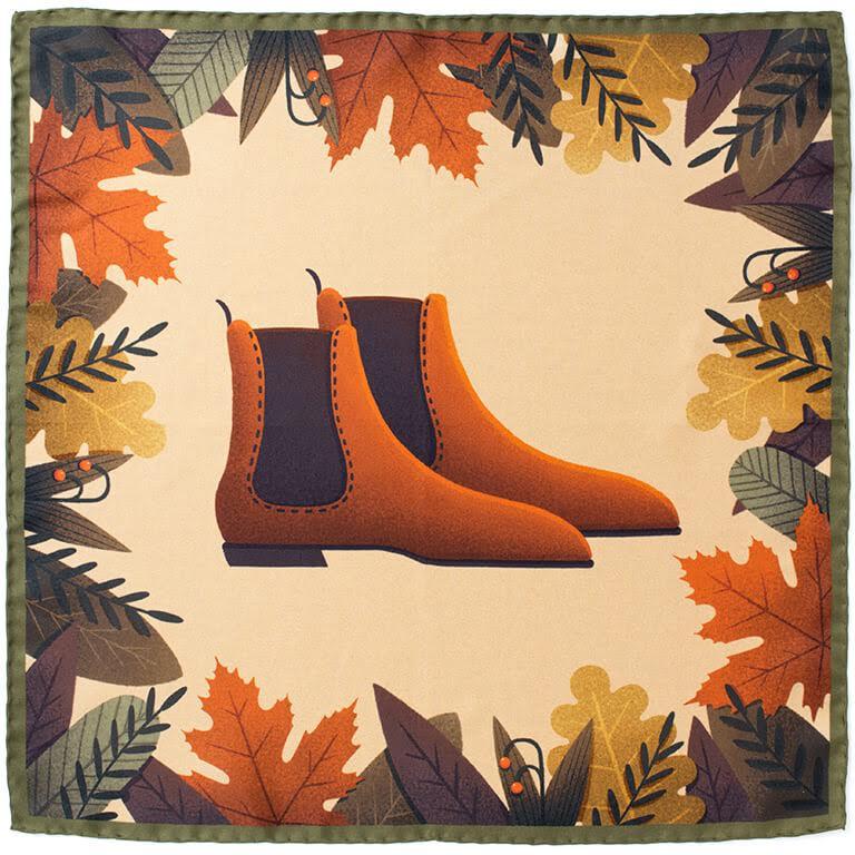 The Shoe Snob x J.FitzPatrick Footwear x R.Culturi - Pocket Squares in Shoe Settings