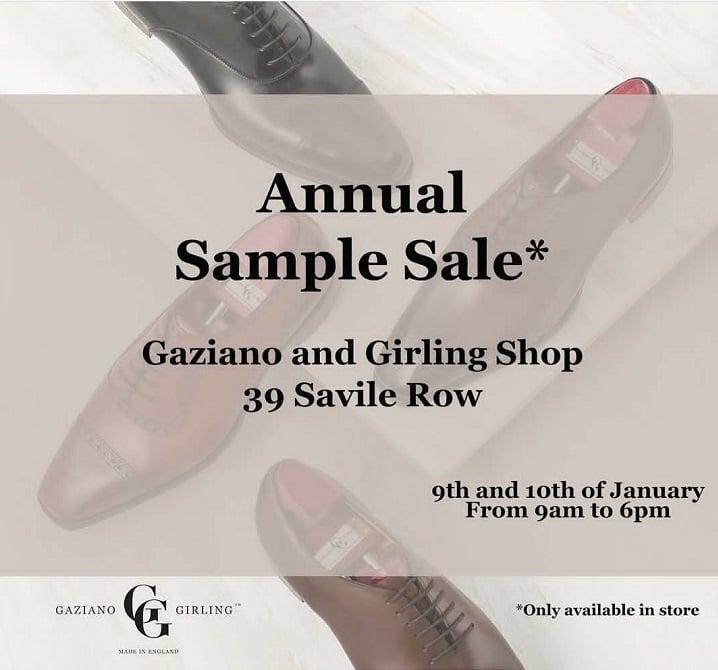 Gaziano & Girling - 2019 Sample Sale