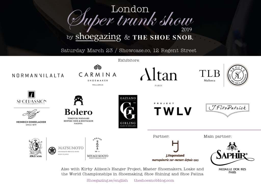 2019 London Super Trunk Show Invite