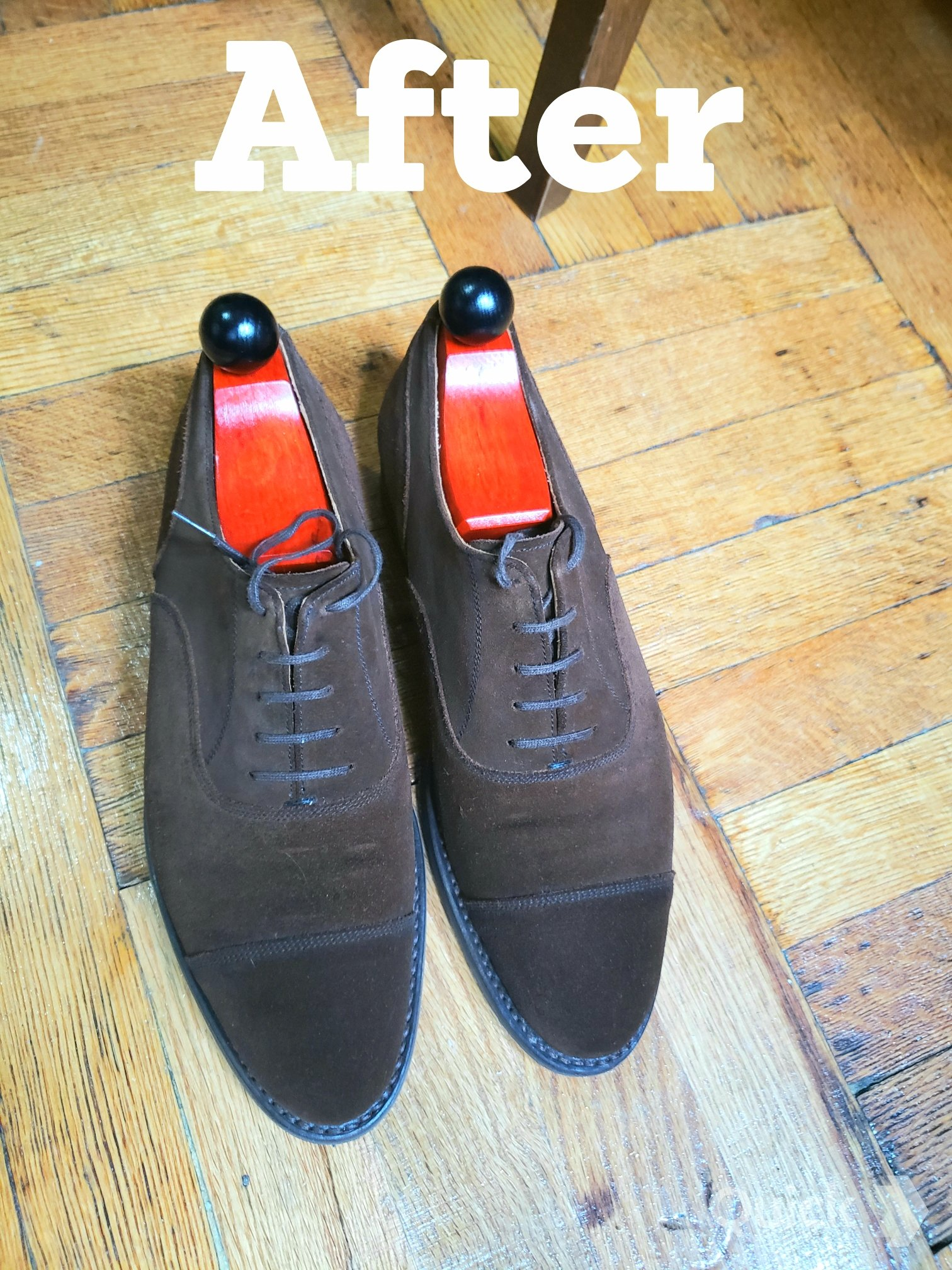 The Best Rain Weather Shoe - Brown Suede with Rubber Sole