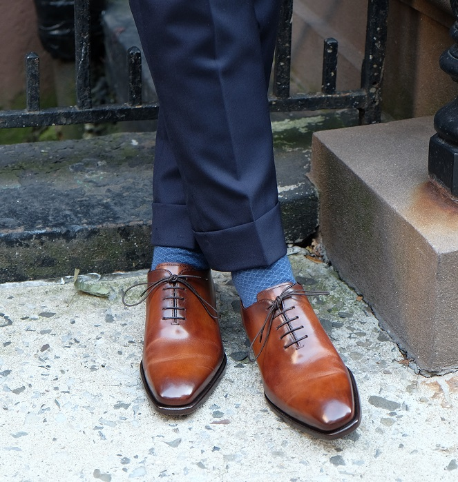 My Style - Brown Shoes and Blue Suits