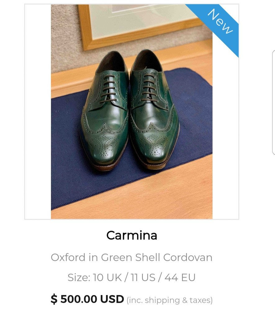 New Shoes on The Marketplace