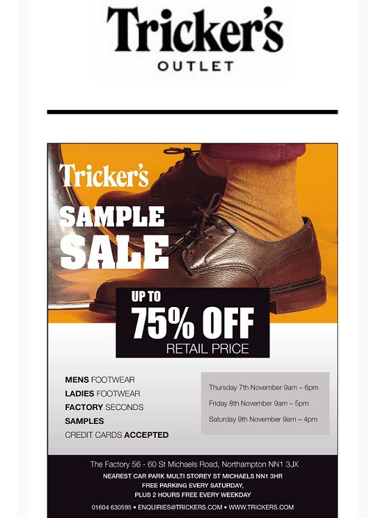 Tricker's Sample Sale