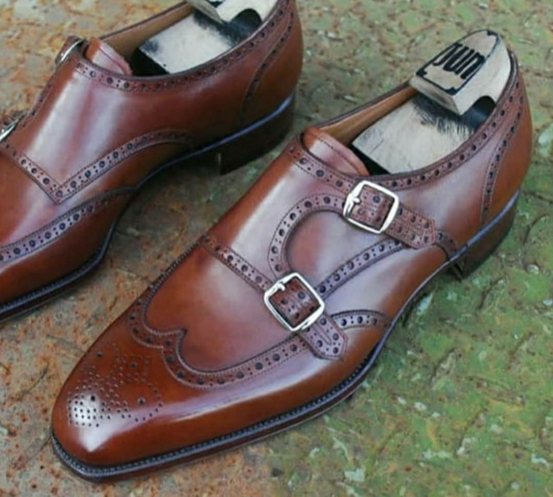 Full Brogue Double Monks