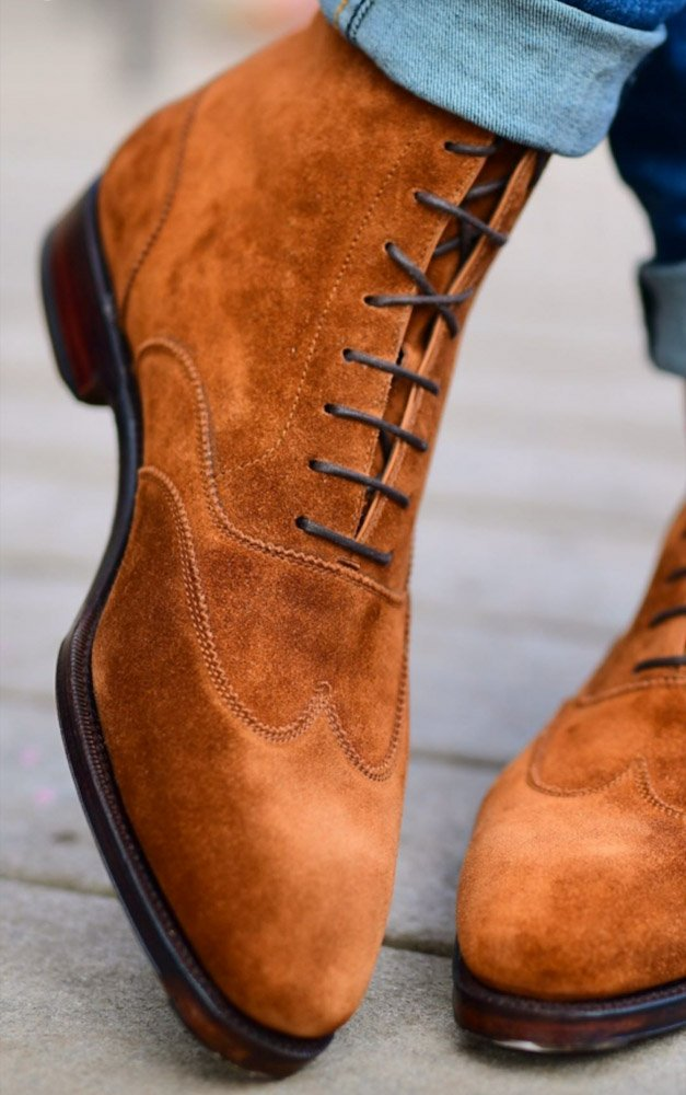 All Suede Lace Boots - Carmina