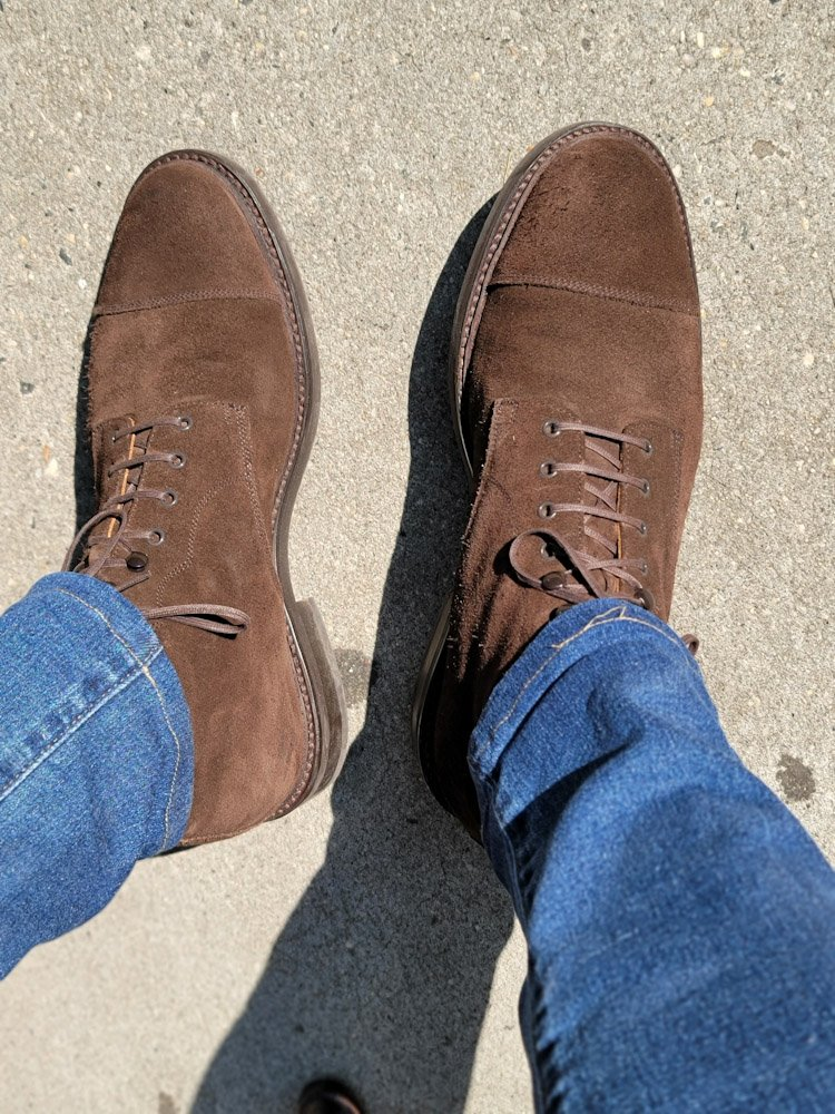 The Brown Suede Derby Boot