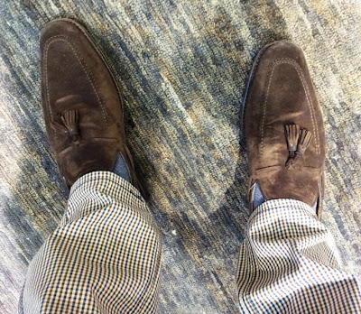 What I Am Wearing - Suede Loafers & Blazer