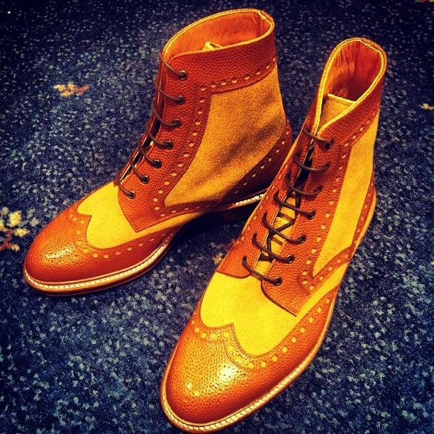 Miyagi Kogyo - Two Toned Derby Boots
