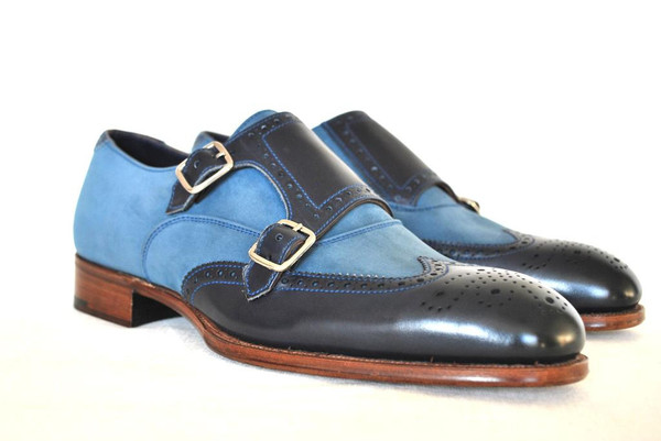 Shoes Of The Week - Blue Two Tone Brogues by Alfred Sargent