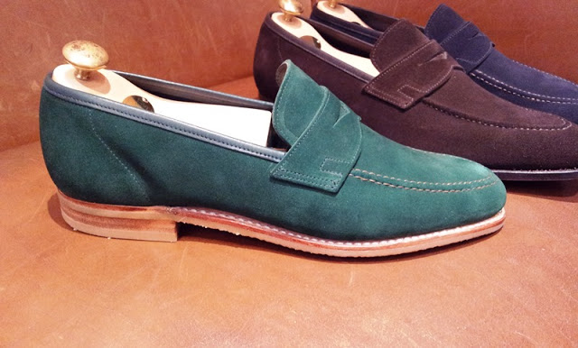 Crockett & Jones - SS2013 New Suede Loafer Collection