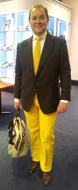English Eccentricism - Yellow Trousers!